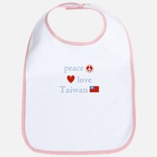 Peace Love and Taiwan Bib