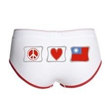 Peace Love and Taiwan Women's Boy Brief