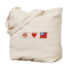 Peace Love and Taiwan Tote Bag