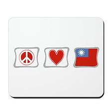 Peace Love and Taiwan Mousepad