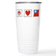Peace Love and Taiwan Travel Mug