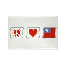 Peace Love and Taiwan Rectangle Magnet