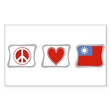 Peace Love and Taiwan Decal