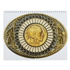 Indian gold oval 1 Wall Calendar