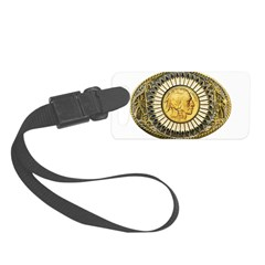 Indian gold oval 1 Luggage Tag