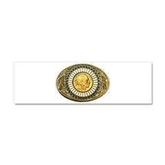 Indian gold oval 1 Car Magnet 10 x 3