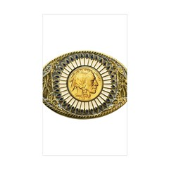 Indian gold oval 1 Decal