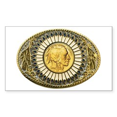 Indian gold oval 1 Sticker (Rectangle)