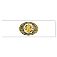 Indian gold oval 1 Bumper Sticker