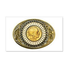 Indian gold oval 1 Wall Decal