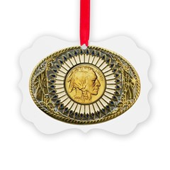 Indian gold oval 1 Ornament