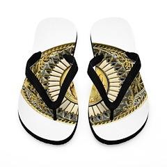 Indian gold oval 1 Flip Flops