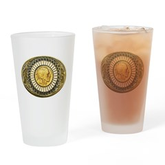 Indian gold oval 1 Drinking Glass
