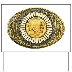 Indian gold oval 1 Yard Sign