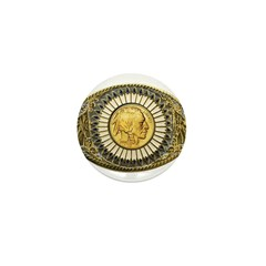 Indian gold oval 1 Mini Button (10 pack)