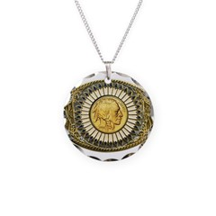 Indian gold oval 1 Necklace Circle Charm