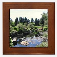 Japanese Water Garden Framed Tile