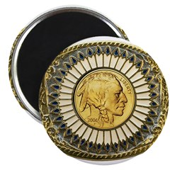 Indian gold oval 1 2.25