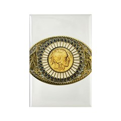 Indian gold oval 1 Rectangle Magnet (100 pack)
