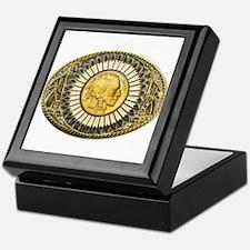 Indian gold oval 1 Keepsake Box