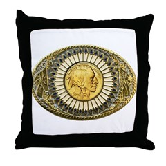 Indian gold oval 1 Throw Pillow
