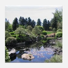 Japanese Water Garden Tile Coaster