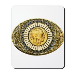 Indian gold oval 1 Mousepad