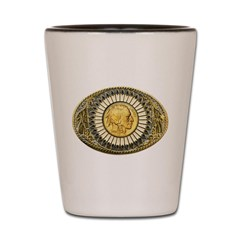 Indian gold oval 1 Shot Glass