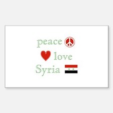 Peace Love and Syria Decal