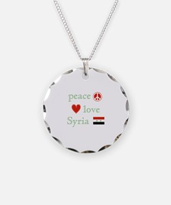 Peace Love and Syria Necklace