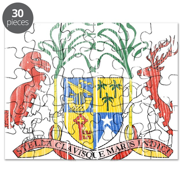 Kitchen Fittings Mauritius: Mauritius Coat Of Arms Puzzle By CoatOfArmswood