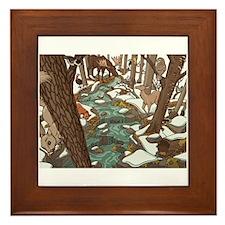 Maine Wildlife Framed Tile