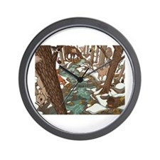 Maine Wildlife Wall Clock