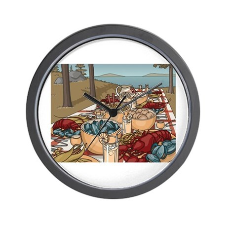Maine Feast Wall Clock