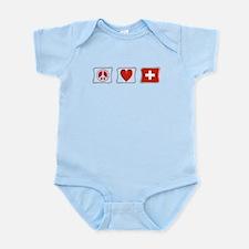 Peace Love and Switzerland Infant Bodysuit