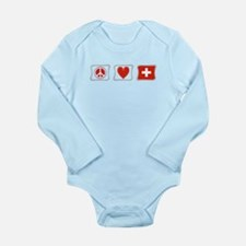 Peace Love and Switzerland Long Sleeve Infant Body