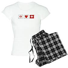 Peace Love and Switzerland Pajamas