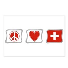 Peace Love and Switzerland Postcards (Package of 8