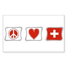 Peace Love and Switzerland Decal