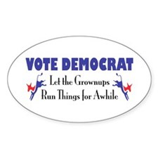 Democratic Grownups Oval Decal