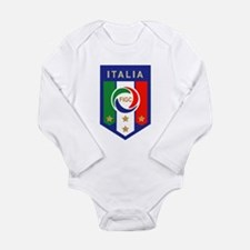 Italia Soccer Long Sleeve Infant Bodysuit