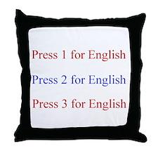 Cool Speak english Throw Pillow