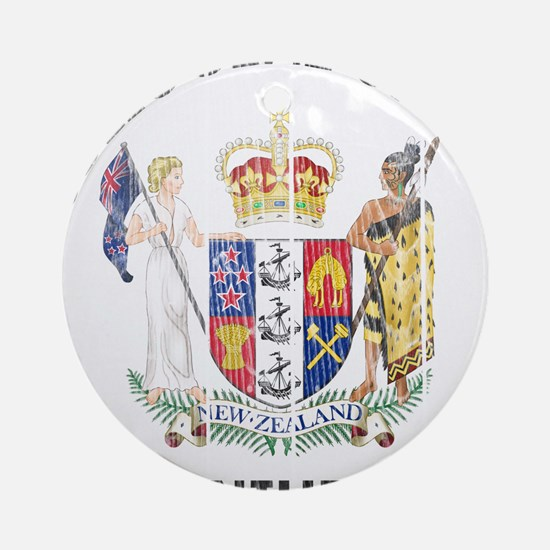 Niue Coat Of Arms Ornament (Round)