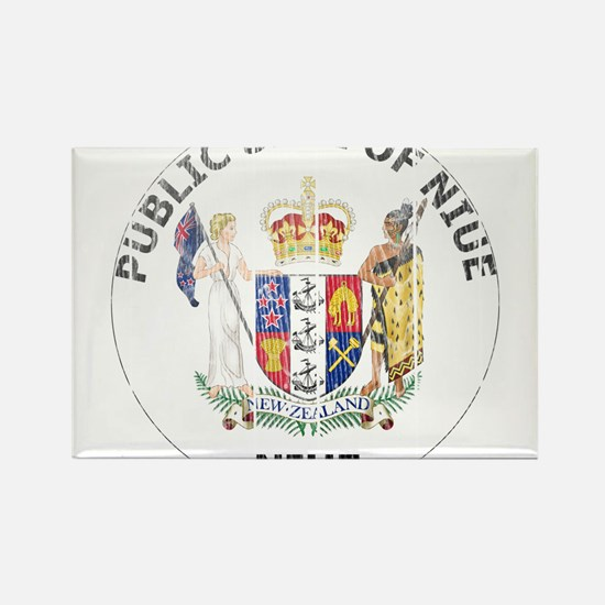 Niue Coat Of Arms Rectangle Magnet