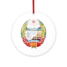 North Korea Coat Of Arms Ornament (Round)