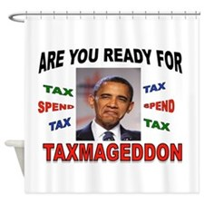 TAXMAGEDDON Shower Curtain