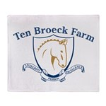 TEN BROECK LOGO_hi r#104C2E.JPG Throw Blanket