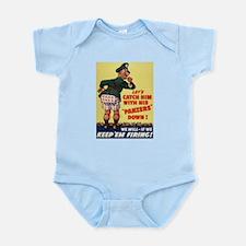 World War II Patriotic Poster Infant Creeper