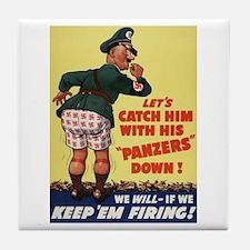 World War II Patriotic Poster Tile Coaster