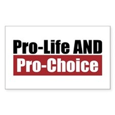 Pro-Life Pro-Choice Rectangle Decal